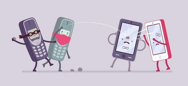 Старые телефоны атакуют новые смартфоны