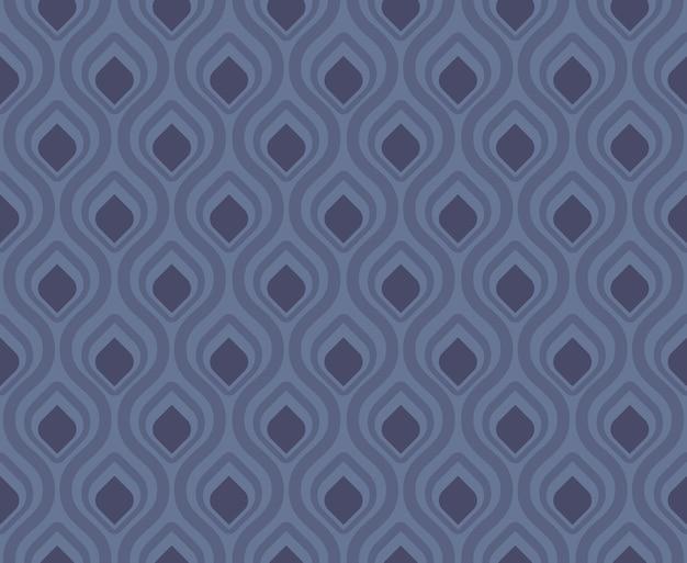 レトロなシームレスパターン孔雀の尾