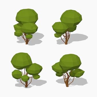 低ポリ緑の木
