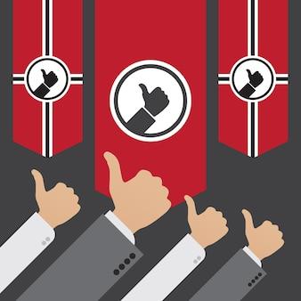 ライクの独裁政権。広告宣伝に適した概念図
