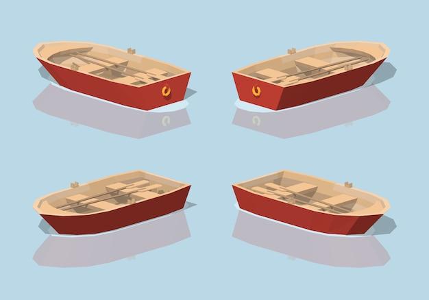 低ポリ赤いパントボート