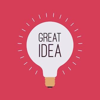 Лампочка с названием великая идея