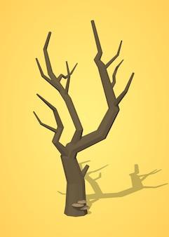 低ポリ乾燥木