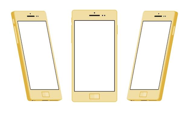 一般的なゴールドのスマートフォン