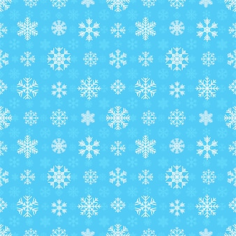 雪のシームレスパターン