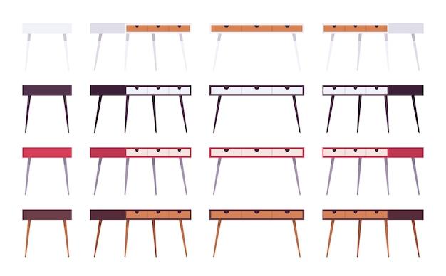 Набор столов с ящиками