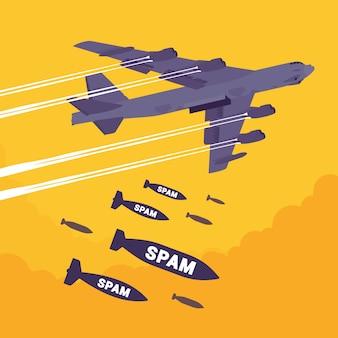 爆撃機とスパム爆撃