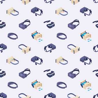 仮想現実ヘッドセットとのシームレスパターン