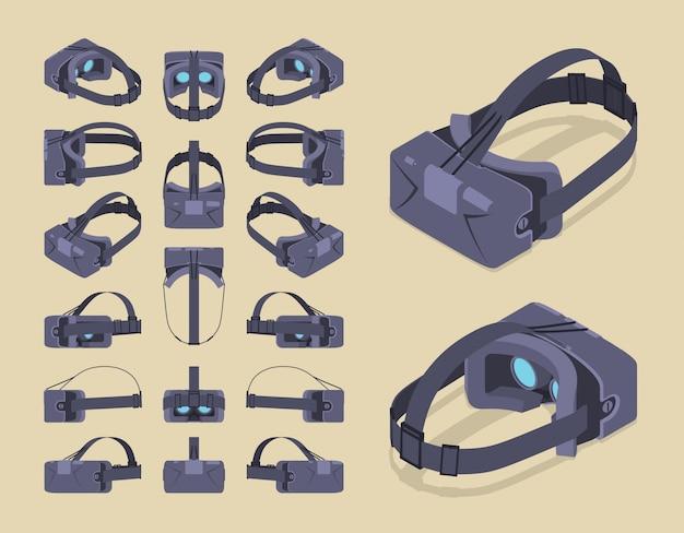 等尺性仮想現実ヘッドセット