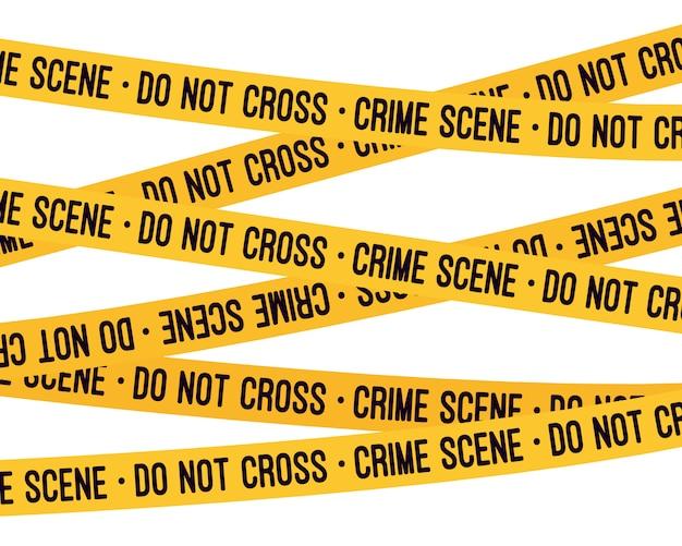 犯罪現場の黄色のテープ