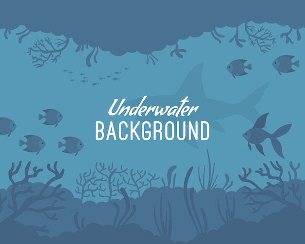 Подводный фон шаблона