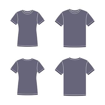 Черные шаблоны с коротким рукавом футболки