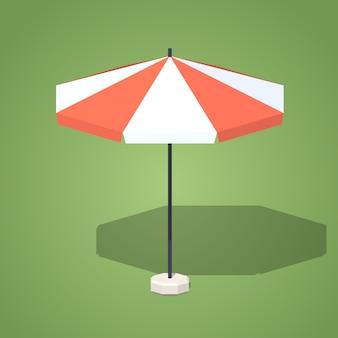 Низкополигональный зонт от солнца