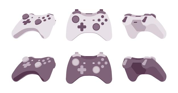 黒と白の色で設定されたゲームパッド