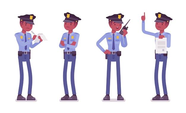 勤務中の警官