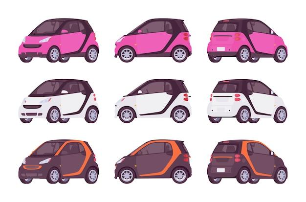 Комплект мини электромобиля в розовом, белом, черном цвете