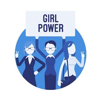 Плакат силы девушки