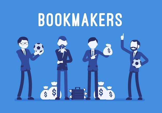 お金を持つブックメーカーの男性