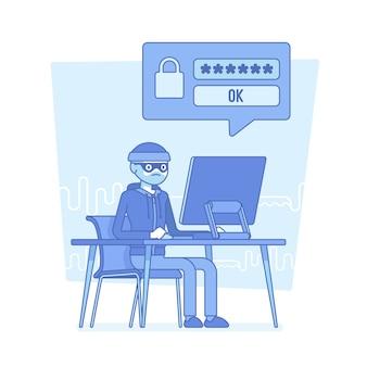 Хакер взломал пароль компьютера