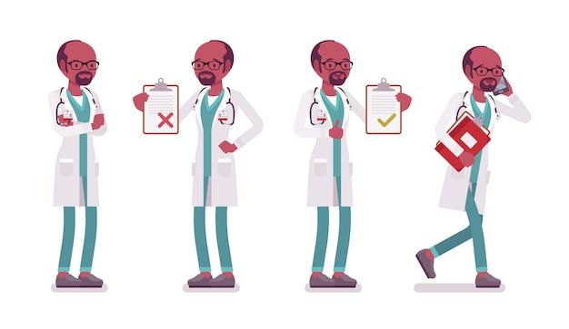 黒人男性医師