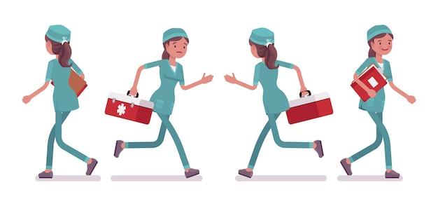Медсестра гуляя