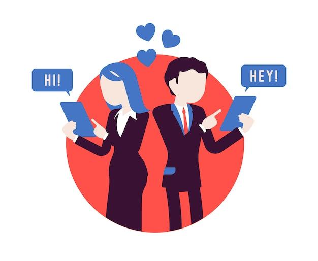 Парное общение в мессенджере