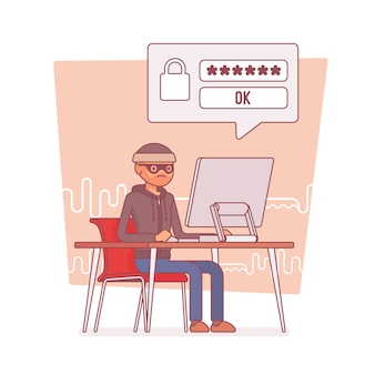 ハッカーがコンピューターのパスワードを解読する