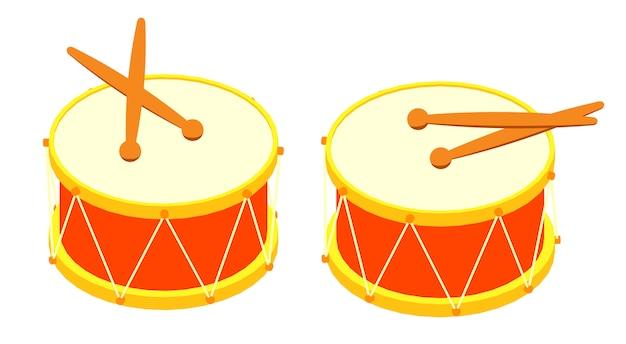 等尺性ドラムとドラムスティック