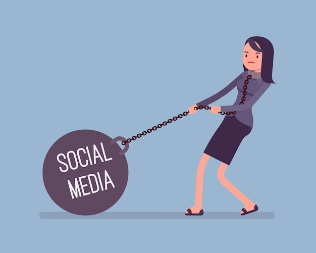 Предприниматель тянет вес социальных медиа на цепи
