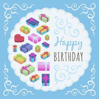 誕生日の装飾デザイン