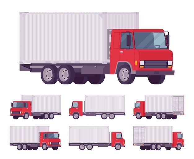 Евро грузовик с металлическим контейнером