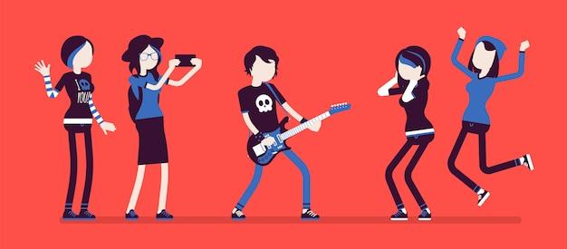Знаменитая рок-звезда и фанаты без ума от него