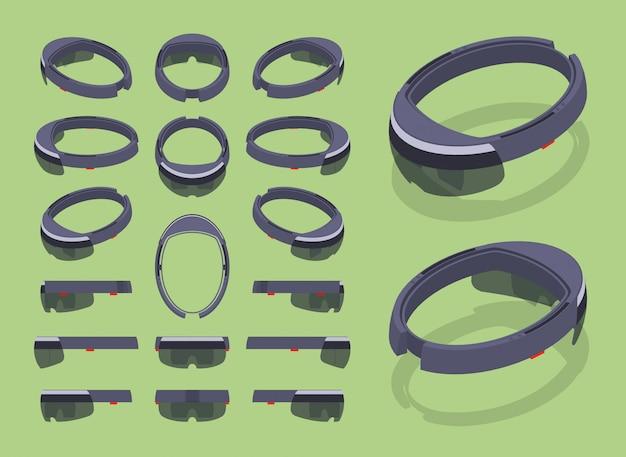 等尺性拡張現実ヘッドセットのセット