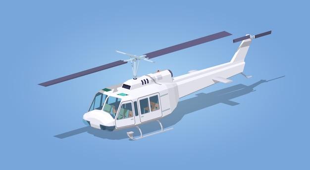 Белый вертолет