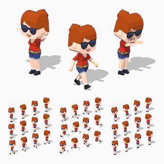 赤毛の女の子。