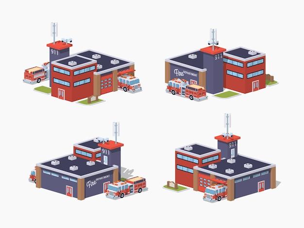 Низкополигональная пожарная станция