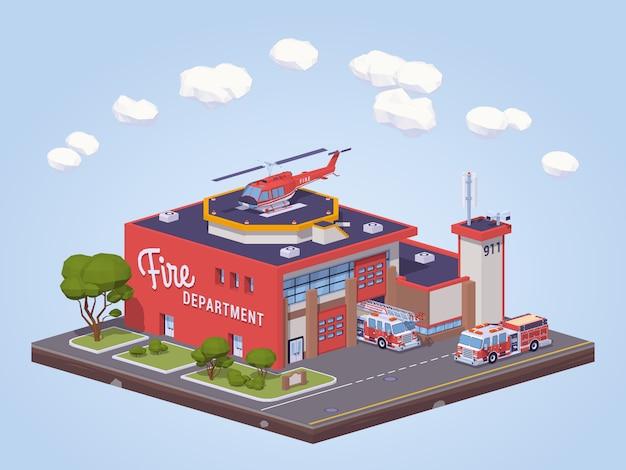 低ポリ消防署