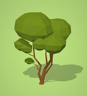 低ポリグリーンツリー