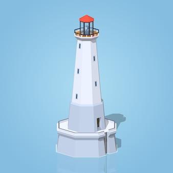 低ポリ灯台