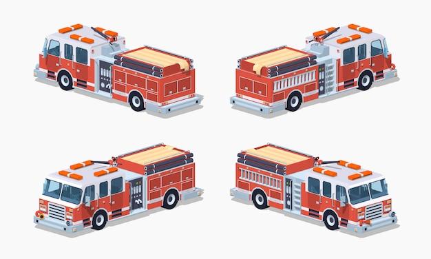 Низкополигональная пожарная машина