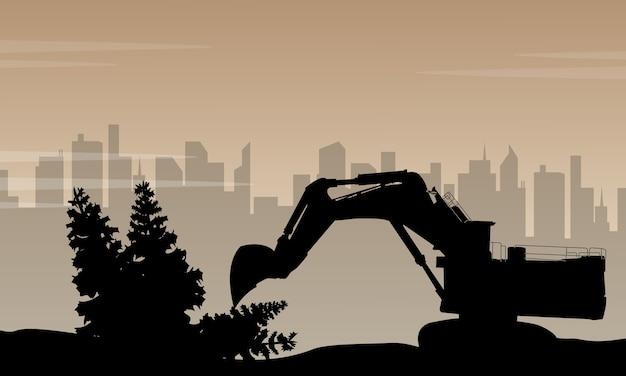 汚染は工場の背景から来る