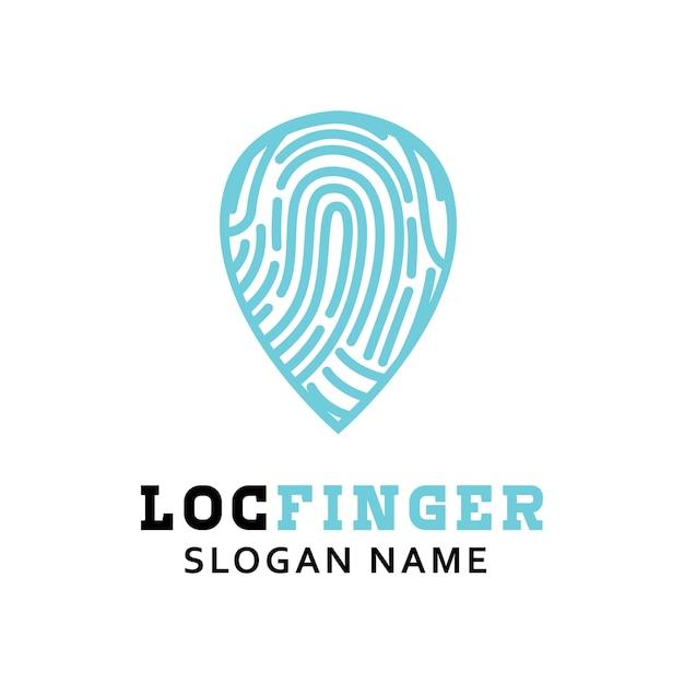 Дизайн логотипа с логотипом отпечатков пальцев