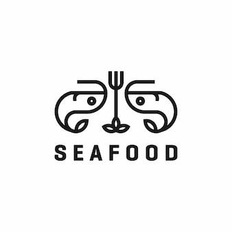 レストランシーフードのロゴ