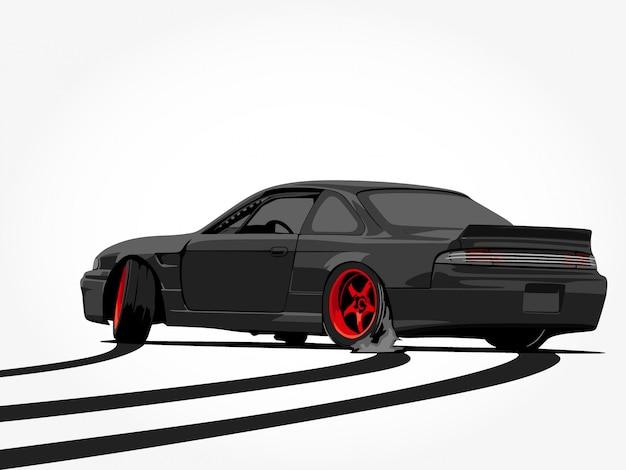 Подробный автомобиль мультфильм векторные иллюстрации искусство