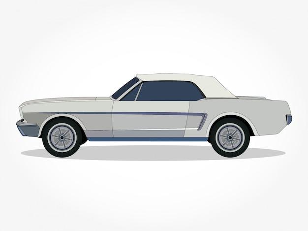 古典的な車の漫画のベクトル図
