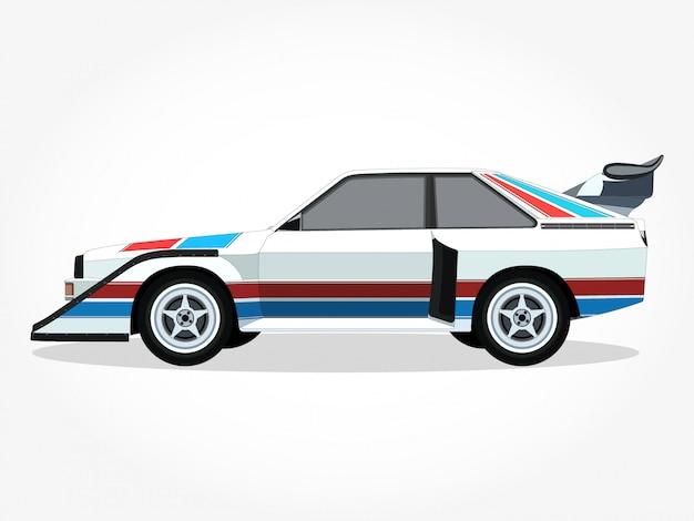 詳細な車の漫画のベクトル図