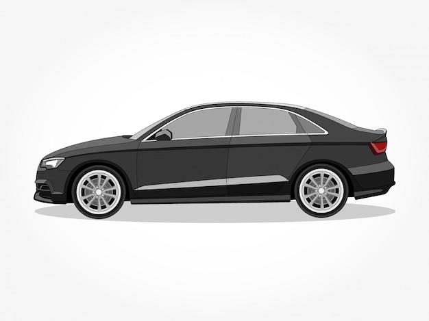Детальный кузов и ободки плоского мультфильма автомобиля