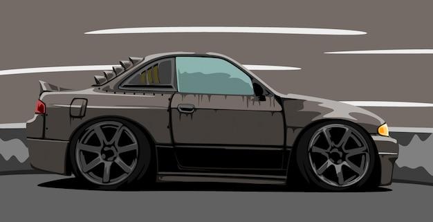 Изготовленный на заказ черный автомобиль