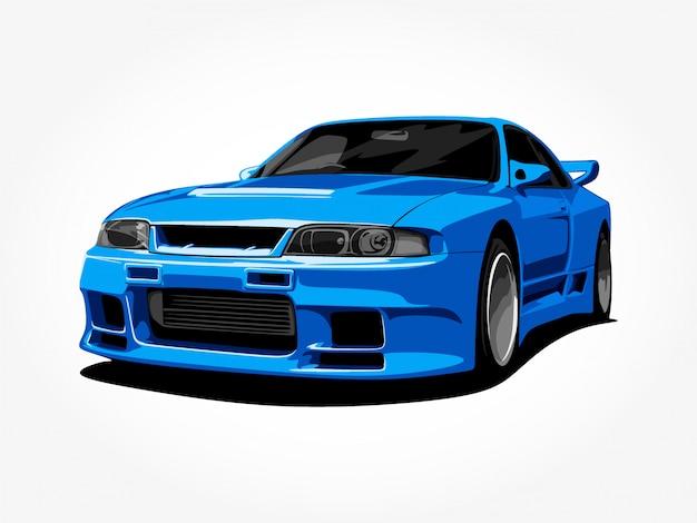 Изготовленный на заказ синий автомобиль