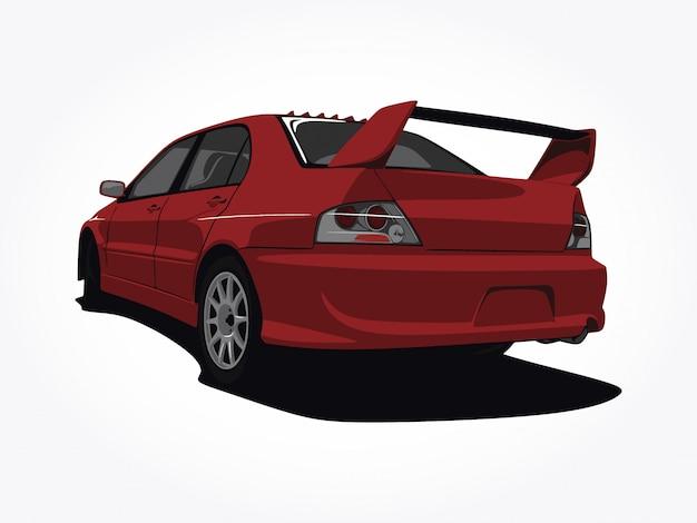カスタムの赤い車の図